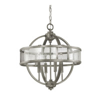 Capital Lighting Davis 4 Light Foyer in Graphite with Antique Glass 4850GR