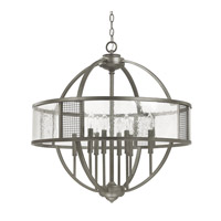 Capital Lighting Davis 8 Light Pendant in Graphite with Antique Glass 4852GR