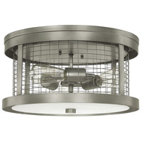 Davis 3 Light 16 inch Graphite Ceiling Flush Ceiling Light