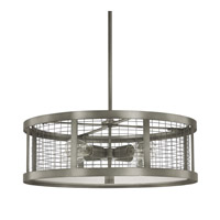 Capital Lighting Davis 4 Light Pendant in Graphite 4860GR