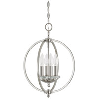 Capital Lighting Perry 4 Light Pendant in Polished Nickel with K9 Crystal 4864PN