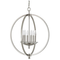 Perry 6 Light 23 inch Polished Nickel Pendant Ceiling Light