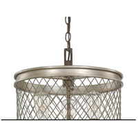 Capital Lighting Eastman 3 Light Pendant in Silver and Bronze 4883SZ