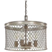 Capital Lighting Eastman 4 Light Pendant in Silver and Bronze 4884SZ