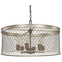 Eastman 6 Light 25 inch Silver and Bronze Pendant Ceiling Light
