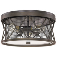 Capital Lighting Jackson 3 Light Ceiling Flush in Oil Rubbed Bronze 4895OR