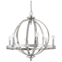 Capital Lighting Brayden 6 Light Pendant in Polished Nickel 4906PN