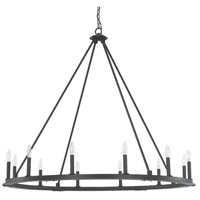 Pearson 12 Light 48 inch Black Iron Chandelier Ceiling Light