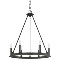 Pearson 6 Light 26 inch Black Iron Chandelier Ceiling Light