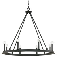 Pearson 8 Light 36 inch Black Iron Chandelier Ceiling Light
