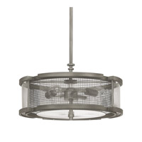 Capital Lighting Carson 3 Light Pendant in Graphite with Clear Glass 4933GR