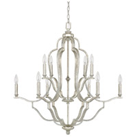 Capital Lighting 4940AS-000 Blair 10 Light 33 inch Antique Silver Chandelier Ceiling Light