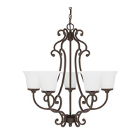 Capital Lighting Terrace 5 Light Chandelier in Burnished Bronze 4945BB-242