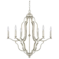 Capital Lighting 4946AS-000 Blair 6 Light 27 inch Antique Silver Chandelier Ceiling Light in (None)