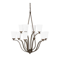 Capital Lighting Braxton 10 Light Chandelier in Burnished Bronze with Soft White Glass 4959BB-122