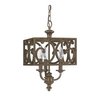 Harrison 3 Light 10 inch Mottled Brown Foyer Ceiling Light