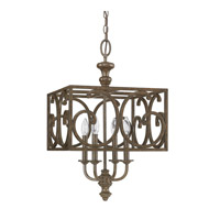 Capital Lighting Harrison 4 Light Foyer in Mottled Brown 4974MT
