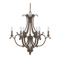 Capital Lighting Harrison 6 Light Chandelier in Mottled Brown 4976MT-000