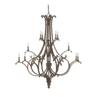 Capital Lighting Harrison 16 Light Chandelier in Mottled Brown 4978MT-000