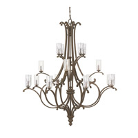 Capital Lighting Harrison 16 Light Chandelier in Mottled Brown with Clear Seeded Glass 4978MT-239