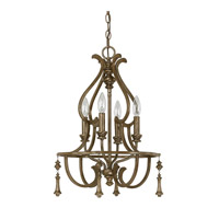 Capital Lighting Avignon 4 Light Mini Chandelier in French Brown with Decorative Fobs 4984FB-000