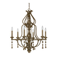 Capital Lighting Avignon 6 Light Chandelier in French Brown with Decorative Fobs 4986FB-000