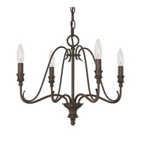 Capital Lighting Abbey 4 Light Mini Chandelier in Russet 4994RS-000