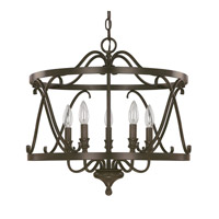 Abbey 5 Light 20 inch Russet Foyer Ceiling Light