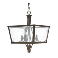 Capital Lighting Abbey 4 Light Foyer in Russet with Antique Glass 4998RS
