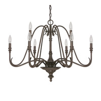 Capital Lighting Abbey 9 Light Chandelier in Russet 4999RS-000