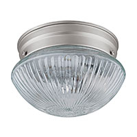 Capital Lighting Signature 1 Light Flush Mount in Matte Nickel 5107MN