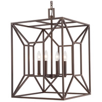 Signature 4 Light 17 inch Burnished Bronze Foyer Ceiling Light