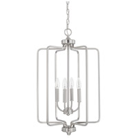 HomePlace 4 Light 16 inch Brushed Nickel Foyer Light Ceiling Light