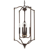 Asher 4 Light 17 inch Champagne Bronze Foyer Ceiling Light