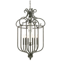 Everleigh 6 Light 24 inch French Greige Foyer Ceiling Light