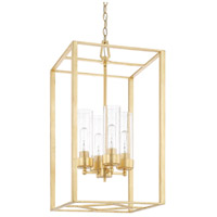 Regan 4 Light 15 inch Capital Gold Foyer Light Ceiling Light