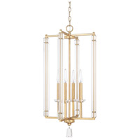 Milan 4 Light 15 inch Capital Gold Foyer Light Ceiling Light