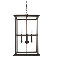 West Port 4 Light 16 inch Old Bronze Foyer Light Ceiling Light