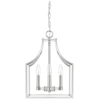 Wright 4 Light 12 inch Polished Nickel Foyer Light Ceiling Light