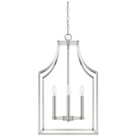 Wright 4 Light 15 inch Polished Nickel Foyer Light Ceiling Light