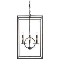 Cole 4 Light 16 inch Aged Brass and Old Bronze Foyer Light Ceiling Light