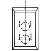Cole 8 Light 22 inch Aged Brass and Old Bronze Foyer Light Ceiling Light