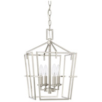 HomePlace 4 Light 11 inch Brushed Nickel Foyer Light Ceiling Light