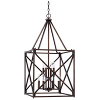 Signature 8 Light 17 inch Burnished Bronze Foyer Light Ceiling Light