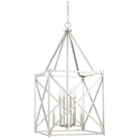 Signature 8 Light 17 inch Polished Nickel Foyer Light Ceiling Light