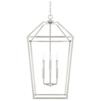 HomePlace 6 Light 17 inch Brushed Nickel Foyer Light Ceiling Light