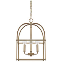 Homeplace 4 Light 13 inch Aged Brass Foyer Ceiling Light