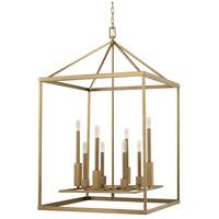 Capital Lighting 527581AD Lyra 8 Light 26 inch Aged Brass Foyer Ceiling Light