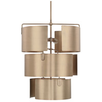 Capital Lighting 527751AD Wells 5 Light 20 inch Aged Brass Foyer Ceiling Light photo thumbnail