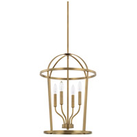 Homeplace 4 Light 16 inch Aged Brass Foyer Ceiling Light